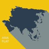 Vector asia. Flat style Stock Photo
