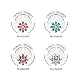 Vector asian logo templates Royalty Free Stock Images
