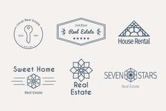 Vector asian logo templates Royalty Free Stock Photography