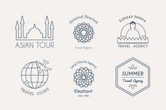 Vector asian logo templates Royalty Free Stock Image