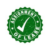 Assignment of Lease Scratched Stamp with Tick vector illustration
