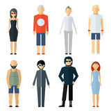 Vector Assorted People on Different Lifestyle Stock Photo