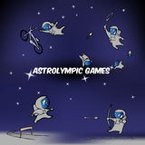 Vector astro olympic games Royalty Free Stock Images