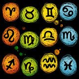 Vector astrological icon set Stock Photo