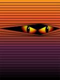 Vector asustadizo de la naranja de los ojos del fondo de Halloween Fotos de archivo libres de regalías
