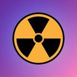 Vector atómico de uranio EPS 10 del ejemplo del icono del peligro del peligro de la atención radiactiva nuclear de la muestra ilustración del vector
