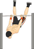 Vector athlete on the horizontal bar Royalty Free Stock Photos