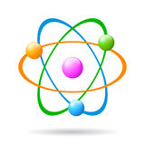 Vector atom icon Stock Photography