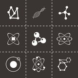Vector atom icon set Royalty Free Stock Photography