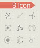 Vector atom icon set Royalty Free Stock Photos
