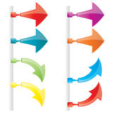 Vector attachable arrows. Vector color modern attachable arrows Royalty Free Stock Photo
