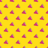 Vector attention signs seamless pattern Stock Image
