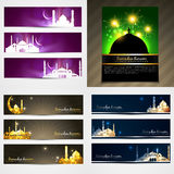 Vector attractive set of  brochure and banner of eid festival il Royalty Free Stock Photography