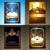 Vector attractive set of brochure of ramadan festival illustrati Stock Photo