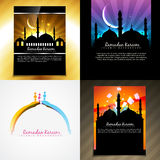 Vector attractive set of brochure of ramadan festival illustrati Royalty Free Stock Images