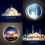 Vector attractive set of eid background Stock Photos