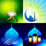 Vector attractive set of eid  background festival of muslim illu Stock Images