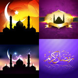 Vector attractive set of eid  background festival of muslim Royalty Free Stock Photography