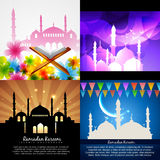 Vector attractive set of eid  background festival of muslim Royalty Free Stock Photo