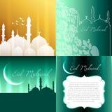 Vector attractive set of eid festival background Stock Photos