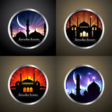 Vector attractive set of festival eid background Royalty Free Stock Images