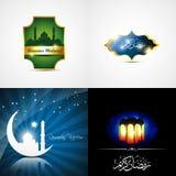 Vector attractive set of  ramadan kareem background Royalty Free Stock Photo