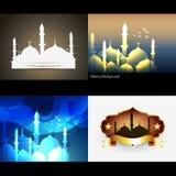 Vector attractive set of  ramadan kareem background Royalty Free Stock Image