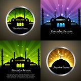 Vector attractive set of ramadan kareem background Royalty Free Stock Photos