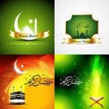 Vector attractive set of  ramadan kareem background Stock Image