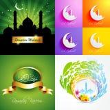 Vector attractive set of ramadan kareem background illustration Royalty Free Stock Photography