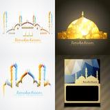 Vector attractive set of ramadan kareem festival background illu Royalty Free Stock Images