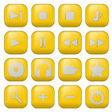 vector audio buttons Stock Photo