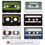 Vector Audio Cassettes Royalty Free Stock Photos