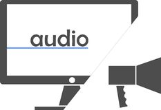Vector - audio Royalty Free Stock Image