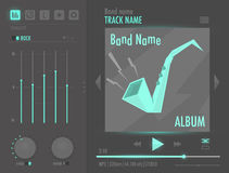 Vector audio player interface Stock Photo