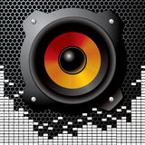 Vector audio speaker. Audio speaker with equalizer - vector illustration Royalty Free Stock Photography