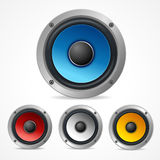 Vector Audio Speaker Set Royalty Free Stock Photography
