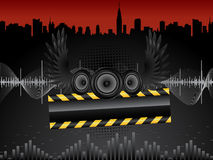 Vector audio speakers. Vector abstract grunge background with audio speakers Stock Photography