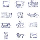 Vector, audio, vídeo, iconos Foto de archivo