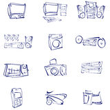 Vector, Audio, Video, Icons Stock Photo