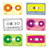 Vector audiocassette Royalty-vrije Stock Foto's