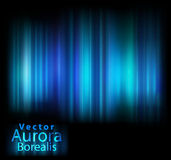 Vector aurora lights background Stock Photography