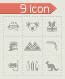 Vector Australia icon set Royalty Free Stock Images