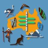 Vector australia travel. File format eps 10 Stock Photos
