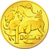 vector Australian Money gold Dollar Royalty Free Stock Photography