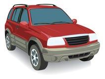 Vector auto die op witte achtergrond wordt geïsoleerda Stock Fotografie
