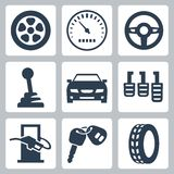 Vector auto icons set Stock Photos