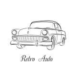 Vector auto retro Foto de archivo libre de regalías