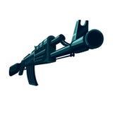Vector automatic gun Stock Image