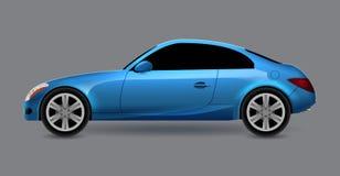 Vector automobiel coupé geïsoleerd profiel zijaanzicht Het vervoer autoauto van de luxe moderne sedan Het ontwerpillustratie van  vector illustratie